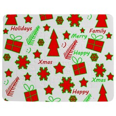 Red and green Christmas pattern Jigsaw Puzzle Photo Stand (Rectangular)