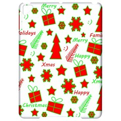 Red and green Christmas pattern Apple iPad Pro 9.7   Hardshell Case