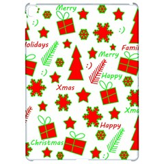 Red and green Christmas pattern Apple iPad Pro 12.9   Hardshell Case