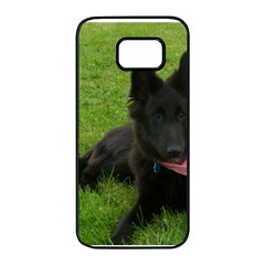 Belgian Shepherd Groenendael Puppy Samsung Galaxy S7 edge Black Seamless Case