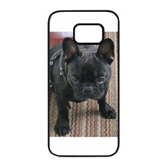 Brindle French Bulldog Sitting Samsung Galaxy S7 edge Black Seamless Case