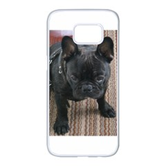Brindle French Bulldog Sitting Samsung Galaxy S7 edge White Seamless Case