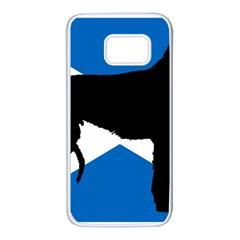 Scottish Deerhound Silhouette Scotland Flag Samsung Galaxy S7 White Seamless Case