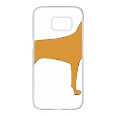 Vizsla Silo Color Samsung Galaxy S7 edge White Seamless Case