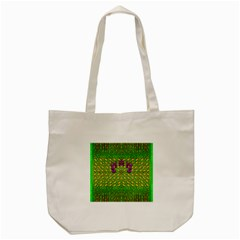Flowers And Yoga In The Wind Tote Bag (cream)