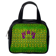 Flowers And Yoga In The Wind Classic Handbags (one Side)