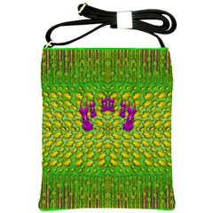 Flowers And Yoga In The Wind Shoulder Sling Bags