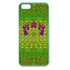 Flowers And Yoga In The Wind Apple Seamless Iphone 5 Case (color)