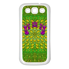 Flowers And Yoga In The Wind Samsung Galaxy S3 Back Case (white)