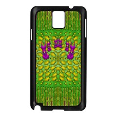 Flowers And Yoga In The Wind Samsung Galaxy Note 3 N9005 Case (black)