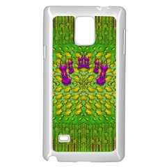 Flowers And Yoga In The Wind Samsung Galaxy Note 4 Case (white)