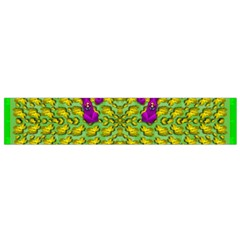 Flowers And Yoga In The Wind Flano Scarf (small)