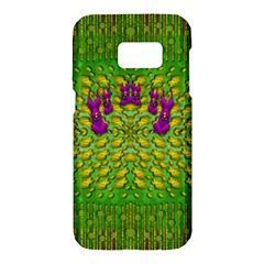 Flowers And Yoga In The Wind Samsung Galaxy S7 Hardshell Case