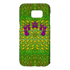 Flowers And Yoga In The Wind Samsung Galaxy S7 Edge Hardshell Case