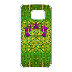 Flowers And Yoga In The Wind Samsung Galaxy S7 White Seamless Case
