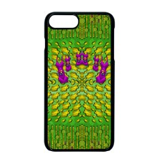 Flowers And Yoga In The Wind Apple Iphone 7 Plus Seamless Case (black)
