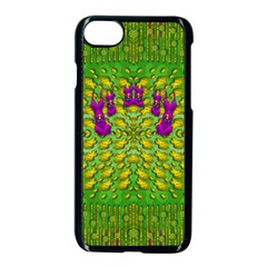 Flowers And Yoga In The Wind Apple Iphone 7 Seamless Case (black)