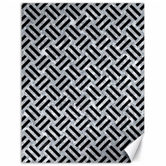 Woven2 Black Marble & Gray Marble (r) Canvas 18  X 24
