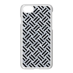 Woven2 Black Marble & Gray Marble (r) Apple Iphone 7 Seamless Case (white)