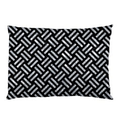 Woven2 Black Marble & Gray Marble Pillow Case