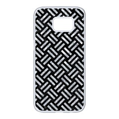Woven2 Black Marble & Gray Marble Samsung Galaxy S7 Edge White Seamless Case