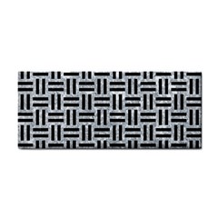Woven1 Black Marble & Gray Marble (r) Hand Towel