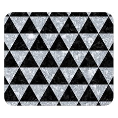 Triangle3 Black Marble & Gray Marble Double Sided Flano Blanket (small)