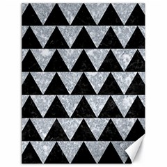 Triangle2 Black Marble & Gray Marble Canvas 18  X 24