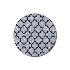 Tile1 Black Marble & Gray Marble (r) Rubber Round Coaster (4 Pack)