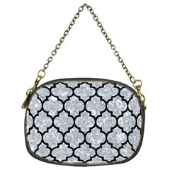 Tile1 Black Marble & Gray Marble (r) Chain Purse (two Sides)