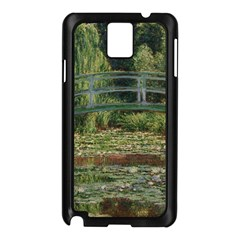 The Japanese Footbridge By Claude Monet Samsung Galaxy Note 3 N9005 Case (black)