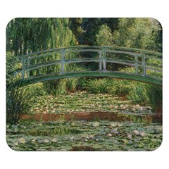 The Japanese Footbridge By Claude Monet Double Sided Flano Blanket (small)