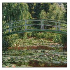 The Japanese Footbridge By Claude Monet Large Satin Scarf (square)
