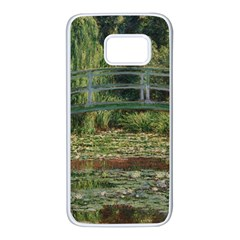 The Japanese Footbridge By Claude Monet Samsung Galaxy S7 White Seamless Case