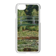 The Japanese Footbridge By Claude Monet Apple Iphone 7 Seamless Case (white)