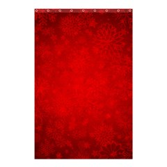 Decorative Red Christmas Background With Snowflakes Shower Curtain 48  X 72  (small)