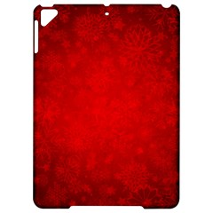 Decorative Red Christmas Background With Snowflakes Apple Ipad Pro 9 7   Hardshell Case