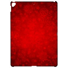 Decorative Red Christmas Background With Snowflakes Apple Ipad Pro 12 9   Hardshell Case