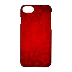 Decorative Red Christmas Background With Snowflakes Apple Iphone 7 Hardshell Case