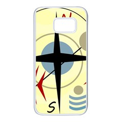 Compass 3 Samsung Galaxy S7 White Seamless Case