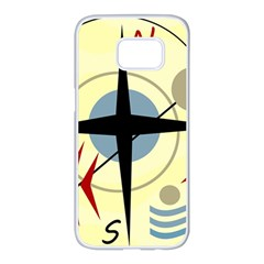Compass 3 Samsung Galaxy S7 edge White Seamless Case
