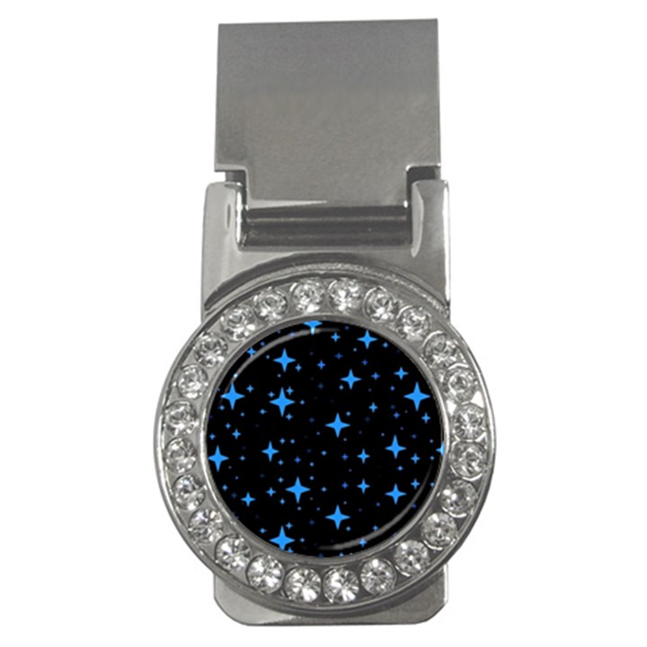 Bright Blue  Stars In Space Money Clips (CZ)