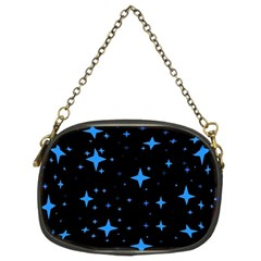Bright Blue  Stars In Space Chain Purses (Two Sides)