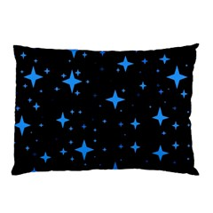 Bright Blue  Stars In Space Pillow Case (Two Sides)