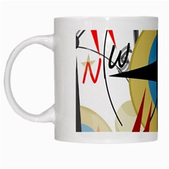 Compass 4 White Mugs