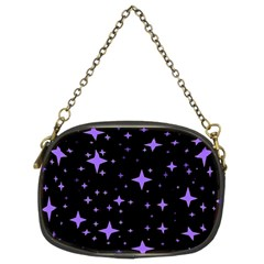 Bright Purple   Stars In Space Chain Purses (Two Sides)