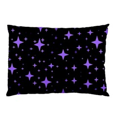 Bright Purple   Stars In Space Pillow Case (Two Sides)