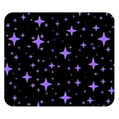 Bright Purple   Stars In Space Double Sided Flano Blanket (small)