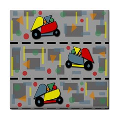 Toy Cars Tile Coasters
