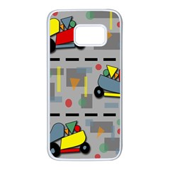 Toy cars Samsung Galaxy S7 White Seamless Case